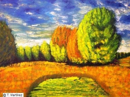 el prado de abajo en otoño