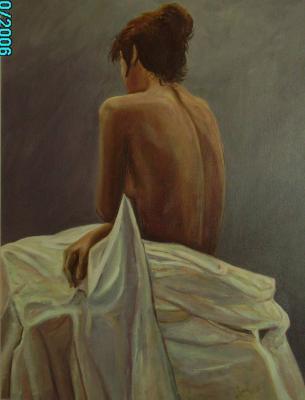 Desnudo con sábana
