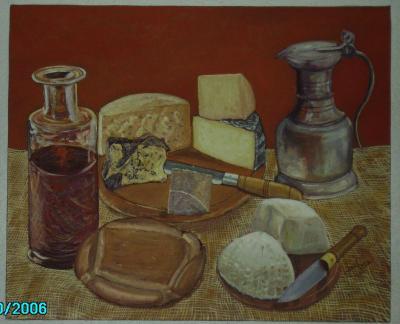 Bodegón con queso