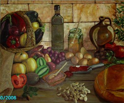 Bodegón con frutas